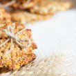 Wholemeal biscuits, healthy — Stock Photo