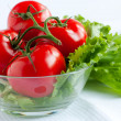 Red tomatoes and lettuce — Stock Photo #21419413