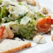 Stock Photo: Salad with seafood and green lettuce