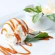 Ice cream with whipped cream — Stock fotografie