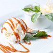 Ice cream with whipped cream — Foto de Stock