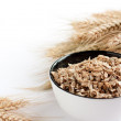 Постер, плакат: Wheat flakes and wheat spikelets