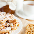 Homemade waffle cookies with honey — Stock Photo #21554207