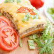 Stock Photo: Appetizing and flavorful lasagna