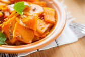 Flavored Roasted Pumpkin with Mint — Stock Photo