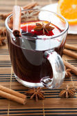 Traditional hot mulled wine — Stock Photo