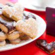 Sweet gift, biscuits in the shape of heart — Stock Photo #21683437