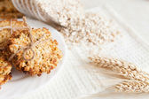 Ruddy baking of wheat flakes — Stock Photo