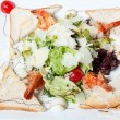 Light salad with seafood — Stock Photo