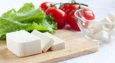 фета сыр и салатом из помидоров - ингредиенты — Стоковое фото