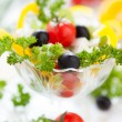 Mouthwatering salad with fetand cherry tomatoes — Stock Photo #22172383