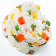 Stock Photo: White rice with chunks of vegetables