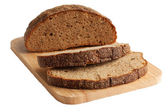 Rye bread on a cutting board — Stock Photo