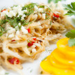 Dish of cabbage and sweet pepper — Stock Photo
