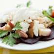 Nourishing salad with roasted beets and cheese — Foto de Stock