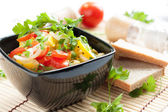 Steamed vegetables - lean low-fat meal — Stock Photo