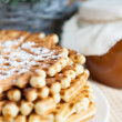 Homemade honey waffles - fragrant dessert — Stock Photo #22345985