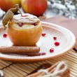 Flavored apple with cheese and honey baked — Stock Photo #22393139