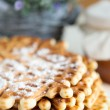 Stock Photo: Sweet waffles with powdered sugar