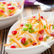 Tasty and juicy cabbage salad with pomegranate — Stock Photo
