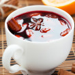 Stock Photo: Traditional hot beverage from warm wine with spices