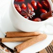 Stock Photo: Drink from warm wine with spices