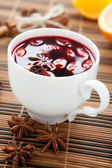 Traditional hot beverage from warm wine, mulled wine — Stock Photo