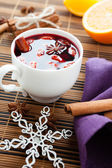 Traditional winter hot drink of wine, mulled wine — Stock Photo