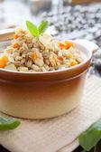 Papilla nutritiva cebada con verduras de raíz — Foto de Stock