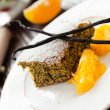 Poppy seed cake with orange syrup — Stock Photo