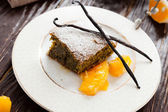 Poppy seed cake with orange slices — Stock Photo