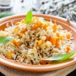 Stock Photo: Porridge for health and beauty, pearl barley