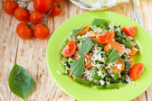 Long grain rice with steamed vegetables — Stock Photo