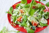Crispy vegetable salad on a platter — Stock Photo