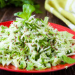 Crispy salad of young cabbage - Stock Photo