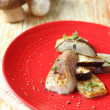 Stock Photo: Roasted porcini mushroom halves