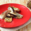 Stock Photo: Grilled boletus mushroom halves