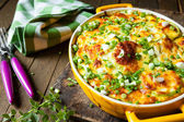 Casserole of Fresh vegetable marrows — Stock Photo
