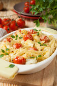 Pasta baked with cheese and tomato — Stock Photo