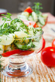 Vegetable salad with new potatoes — Stock Photo