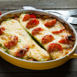 Marrow casserole with cheese — Stock Photo