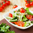 Vegetable salad with fresh tomatoes — Stock Photo