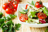Fresh vegetable salad with tomatoes — Stock Photo