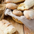Homemade bread baguette — Stock Photo