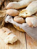 Homemade bread baguette — Stock Photo