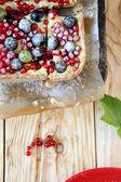 Pastel crujiente de baya con pasas de corinto — Foto de Stock