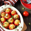 Tomatoes with rice and cheese crust — Stock Photo #30306903