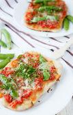 奶酪蔬菜皮塔饼 — 图库照片