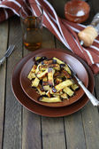 Roasted eggplant with spices in a bowl — Stock Photo