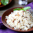 Boiled white and wild rice — Stock Photo